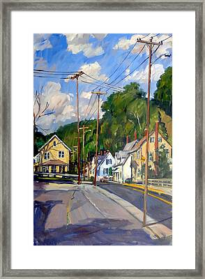 Mill Houses North Adams Framed Print