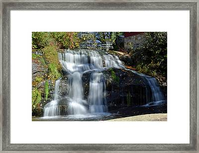 Mill Shoals Falls Framed Print