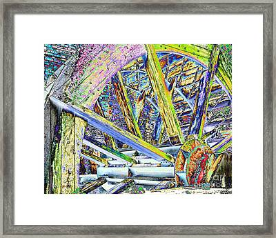 Mill Wheel - Foil Framed Print by Jim Buda