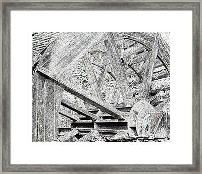 Mill Wheel - Glowing Edges Framed Print by Jim Buda