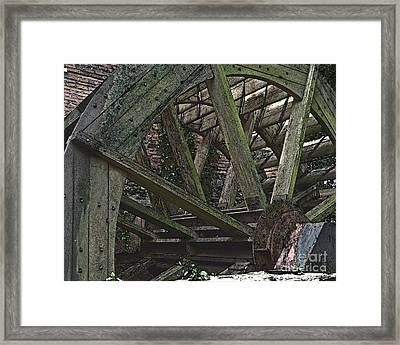 Mill Wheel Vi - Edges Framed Print by Jim Buda