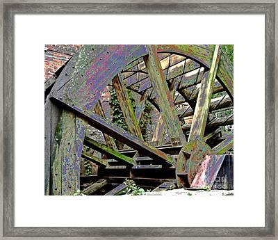 Mill Wheel Vi - Enamaled Framed Print by Jim Buda