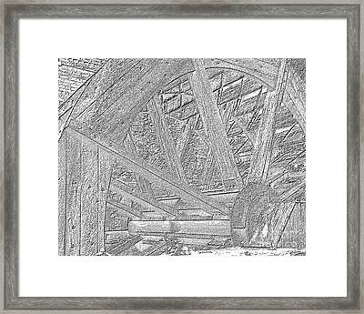 Mill Wheel Vi - Oil Framed Print by Jim Buda