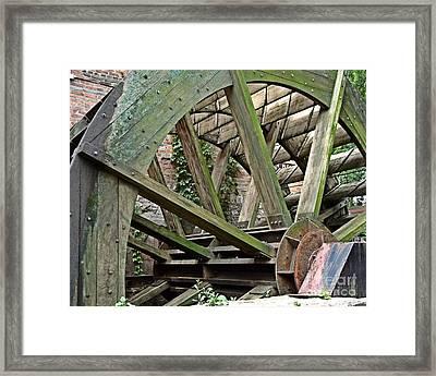 Mill Wheel Vi Framed Print by Jim Buda