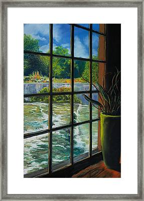 Mill With A View Framed Print by Peter Jackson