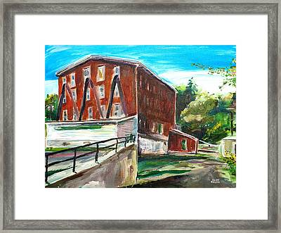 Millbury Mill Framed Print by Scott Nelson