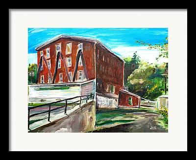 Millbury Mill Framed Prints