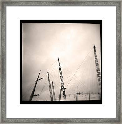 Framed Print featuring the photograph Millenium Dome Spires by Lenny Carter