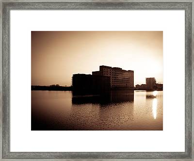 Framed Print featuring the photograph Millenium Mills Warehouse by Lenny Carter