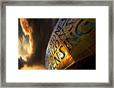 Framed Print featuring the photograph Millennium Drama by Meirion Matthias