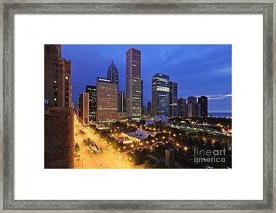 Millennium Park In Chicago Framed Print by Jeremy Woodhouse