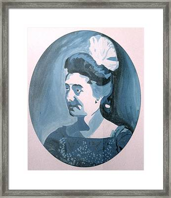 Millie In Blue Framed Print
