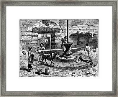 Milling Flour, Historical Artwork Framed Print by Cci Archives