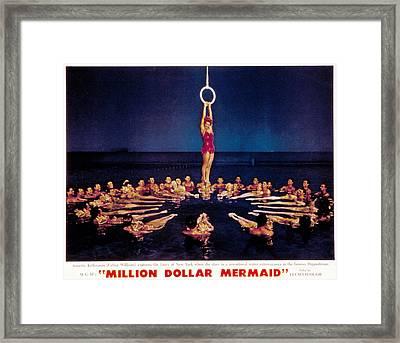 Million Dollar Mermaid, Esther Framed Print by Everett