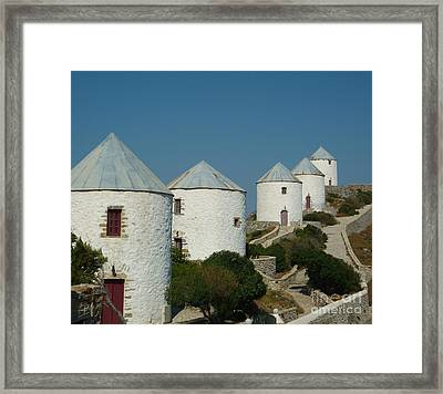 Mills In A Row Framed Print