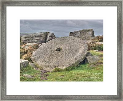 Millstone On Edge Framed Print by Steev Stamford