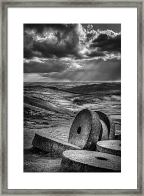 Millstones On The Moor Framed Print by Andy Astbury