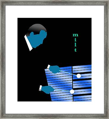 Milt Jackson Blue Framed Print by Victor Bailey