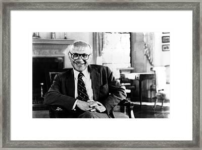 Milton Friedman, 1980� Csu Framed Print by Everett