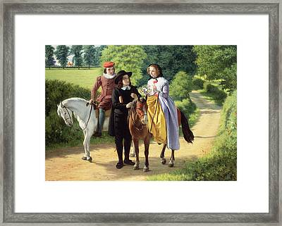 Milton's Framed Print by Alfred Rankley