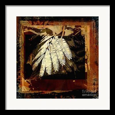 Ecru And Brown Framed Prints