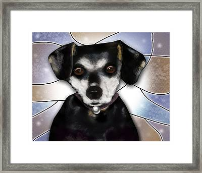 Min Pin Framed Print by Melisa Meyers