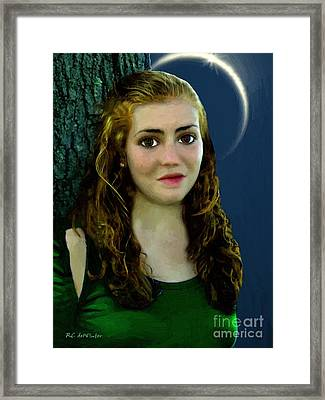 Mina By Moonlight Framed Print by RC DeWinter