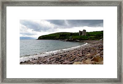 Minard Castle Framed Print by Barbara Walsh