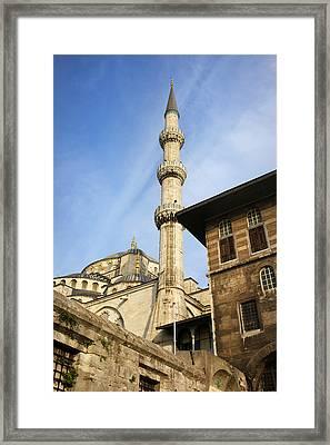 Minaret Of The Blue Mosque Framed Print by Artur Bogacki