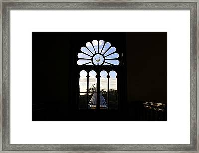 Minaret Through Window Framed Print by David Lee Thompson
