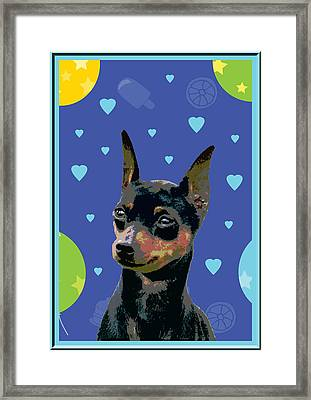 Minature Pinscher Framed Print by One Rude Dawg Orcutt