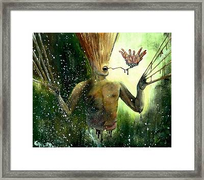 Mind Remnants - Panic And Paranoia Framed Print by Grigore Vlad