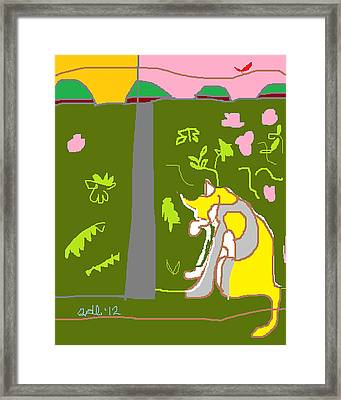 Mindow Or Minnow In The Window Framed Print by Anita Dale Livaditis