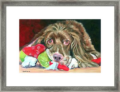 Mine - Brittany Spaniel Framed Print by Lyn Cook