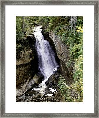 Miner Falls Framed Print