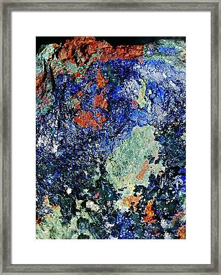 Mineral Deposition Framed Print by Dirk Wiersma