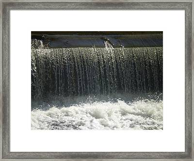 Mineral Park Water Fall - Petoskey Framed Print