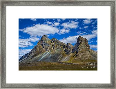 Mineral Slopes Framed Print