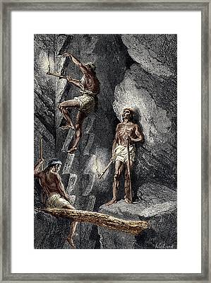 Miners At Chihuahua, Mexico Framed Print by Sheila Terry