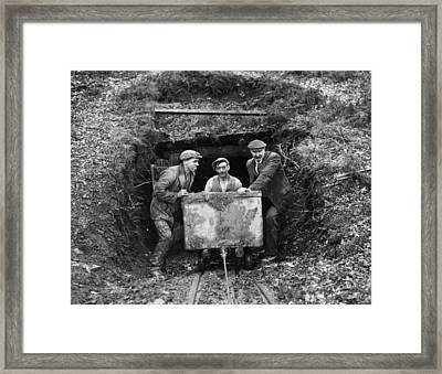 Miners Framed Print by Fox Photos