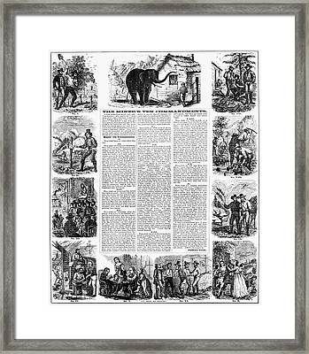 Miners Ten Commandments Framed Print by Granger