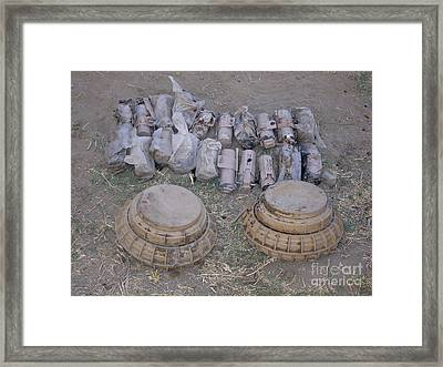 Mines And Grenades Framed Print by Stocktrek Images