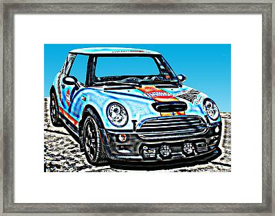 Mini Cooper Competition Framed Print by Samuel Sheats