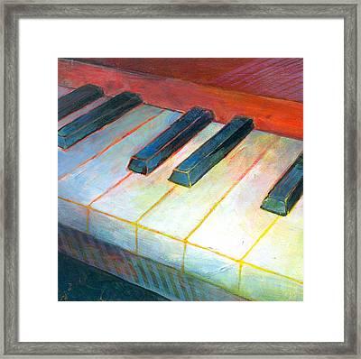 Mini Keyboard Framed Print by Susanne Clark
