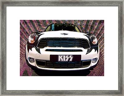 Mini Kiss Framed Print by Paul Barkevich