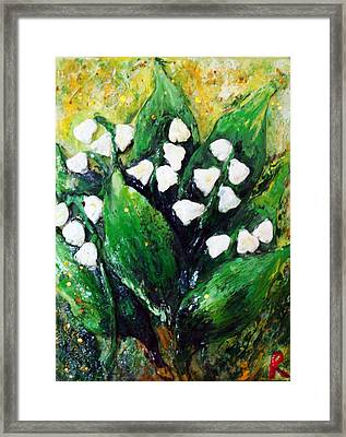 Mini Lilies Of The Valley Framed Print