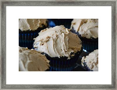 Mini Mountain Of Mocha Framed Print by Bonnie Myszka