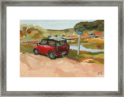 Mini On The Cape Framed Print by William Noonan