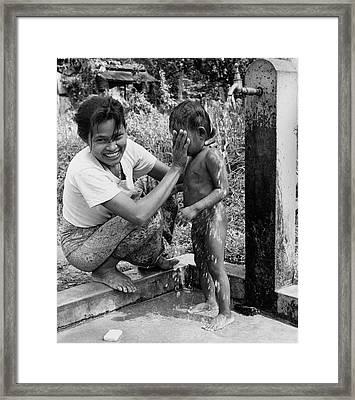 Mini Shower Framed Print by Richard Harrington