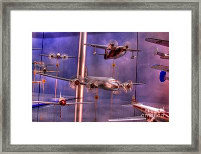Miniature Airplanes Framed Print